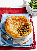 Family mince beef pie