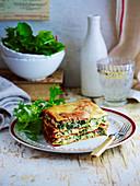 Spinach and ricotta lasagna