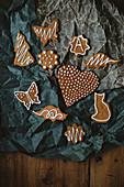 Various gingerbread cookies