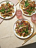 Chicken and soba noodle stir-fry