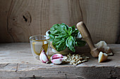 Ingredients for Ligurian pesto