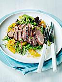 Duck breast orange salad