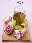 Fresh garlic and olive oil
