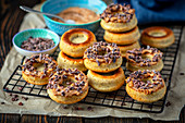Wholemeal fit donuts with peanut butter