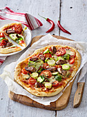 Pizza with Brussels sprout