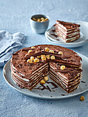 Pischinger wafer cake with chocolate