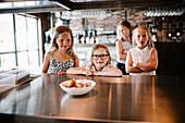 Girls in restaurant