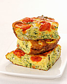 Frittata with vegetables and goat's cheese