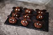 Bat-shaped chocolate sweets