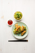 Fried noodle pockets from Asia
