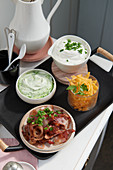 Toppings for savoury waffles