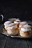 Semlor - Swedish almond and cream rolls