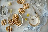 Liège waffles (Gaufres de Licge)