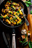 Butternut gnocchi with shiitake and sage butter
