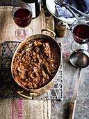 Toskanisches, langsam gegartes Rinderfilet mit Chianti