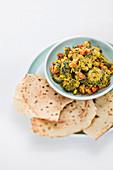Bitter cucumber curry (molecular cuisine)