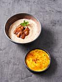 Crème brûlée and wheat semolina porridge (vegan)