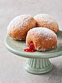 Doughnut - Berliner with strawberry jam (vegan)