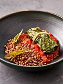 Chard roulade with buckwheat (vegan)