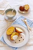 Ofenkartoffeln dazu vegane Mayonnaise mit Kapern