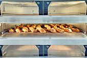 Baguettes in the oven