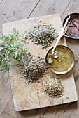 Ingredients for vermouth (as a spring cure)