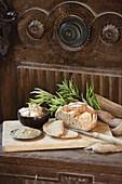 Bread with mugwort seasoning (to aid digestion)