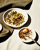 Gebratene Zucchini mit Semmelbröseln