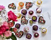 Various vegan chocolates