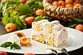 Cardinal slices with apricots