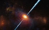 Illustration of a distant quasar