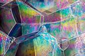 Soap bubble iridescence