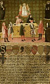 Tax administration office of Siena, 15th century painting