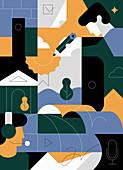 Business communication, illustration