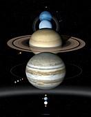Solar System planets , illustration