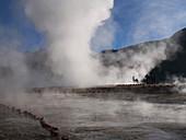 Steaming geyser, El Tatio, Chile