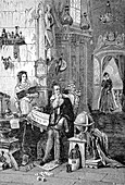 The study room of the astrologer, illustration