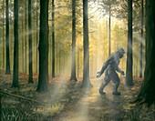 Bigfoot, illustration