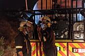 Firemen co-ordinating operations