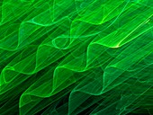 Waveforms, abstract illustration
