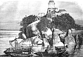 Devinath, Sultanganj, India, 19th century illustration