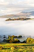 Temperature inversion over Ambleside, Lake District, UK