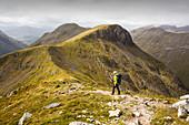 Stob Coire Altruim, Buchaille Etive Mor ridge, Scotland, UK