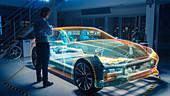 In automotive facility automobile design engineer