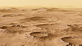 Aerial View of Mars' Landscape