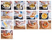 Honey and apple cake, step by step