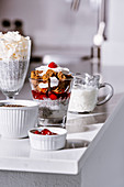 Healthy vegan, gluten and lactose free trifles