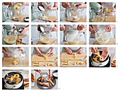 Judas' strings (fried Easter pastry), step by step