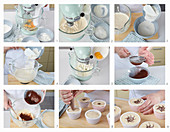 Bicolour muffins, step by step