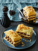 Mille-feuille with almonds